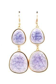 Lilac Porcelain Gabby Earrings on Emma Stine Limited