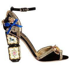 Bianca Balti For Luisaviaroma Women Dolce & Gabbana Embellished... ($3,485) ❤ liked on Polyvore featuring shoes, sandals, multicolor, colorful shoes, bow sandals, metallic leather sandals, metallic shoes and bow shoes