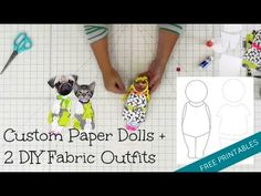 Custom Paper Dolls + 2 Free Printable Templates