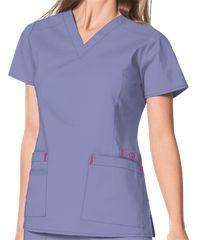 Wonderwink Scrubs Wonderflex Verity V-Neck Top - XL - Ceil Blue Scrub Tops, Caregiver, Refashion, V Neck Tops, Scrubs, Polo Shirt, Mens Tops, Shirts, Sewing