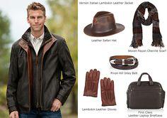 Men's Vernon Italian Lambskin Leather Jacket by Overland Sheepskin Co. (style 25431)