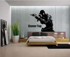 Call of Duty Style Sniper / Soldier Wall Art + Gamer Tag XBOX PS3 28 Color Choices (Black) (580 x 520), http://www.amazon.co.uk/dp/B00IXQQMRI/ref=cm_sw_r_pi_awdl_ExFDtb0Q0KY4S