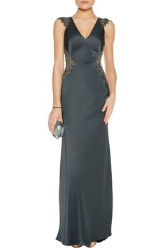 Shop on-sale Catherine Deane Claire embellished satin gown. Browse other discount designer Dresses & more on The Most Fashionable Fashion Outlet, THE OUTNET.COM
