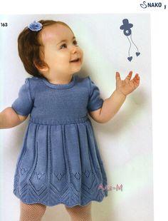 Платье для малышки, спицы, от Nako. Обсуждение на LiveInternet - Российский Сервис Онлайн-Дневников