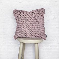 Lilac Rose Knitted Cushion yum! Shop our range of cushions from independent retailers, brands, designers and more through ohwhatsthis.com