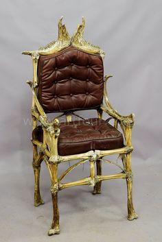a wacky vintage bull bone chair ca. 1930
