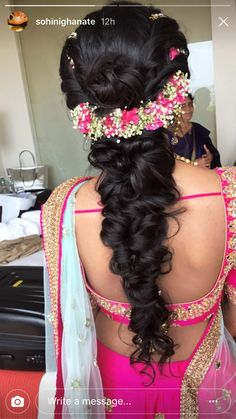 Pin By Bhoomi S On Hairstyles Bridal Hairdo Indian Saree Hairstyles, Open Hairstyles, Indian Wedding Hairstyles, Bride Hairstyles, Hairstyles Haircuts, Amazing Hairstyles, Creative Hairstyles, Bridal Hairdo, Hairdo Wedding