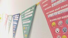 Slingerlezen voor meer leesplezier. Met vlaggetjes om te printen.
