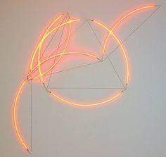 Francois Morellet / π roccoco #21, 1 = 75°, 2005
