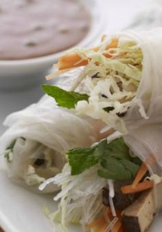 Summer Rolls. An easy and healthy way to enjoy vegetables.