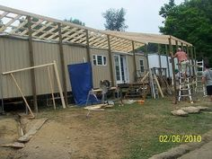 Framing Over Existing Roof Could Save Money If You Will Never Move The Mobile Home