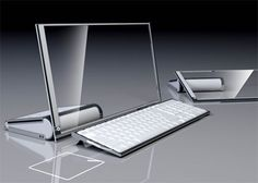 The HP LIM (less is more) concept technology computer with cleartouch screen monitor that folds down into a tablet view.