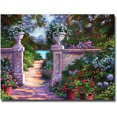 Trademark Art Sir Thomas Estate Garden Canvas Wall Art by David Lloyd Glover, Size: 35 x 47, Multicolor