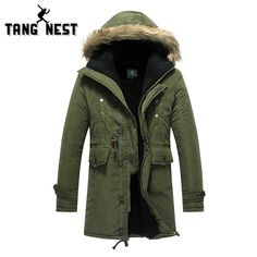 >> Click to Buy << TANGNEST New 2017 Winter Lowest Price Three Color Men's Long Overcoat Popular Asian Size Hooded Warm Comfortable Coat 060 #Affiliate