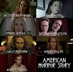 Comment on your favorite character played by Sarah Paulson. Follow rickysturn/american-horror-story