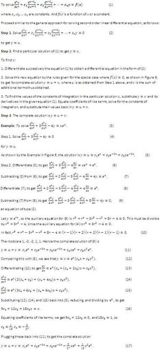 How to Solve Differential Equations -- via wikiHow.com