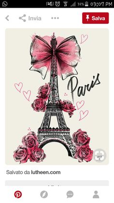 Lutheen Illustration - Draw - 'Roses for Paris'… Wallpaper Rose, Paris Wallpaper, Wallpaper Backgrounds, Iphone Wallpaper, Girly Drawings, Art Drawings, Illustration Au Crayon, Paris Illustration, Art Parisien