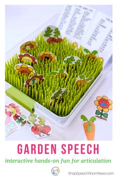 Spring Speech Therapy - sensory bin interactive activities for articulation