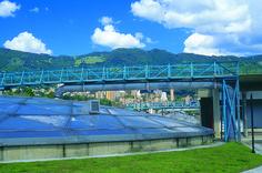 Planta de Tratamiento de aguas residuales San Fernando - Construcción de las obras cíviles de la planta. Año de construcción: 1999 Ciudad: Itagüí, Antioquia, Colombia Cliente: Empresas Públicas de Medellín