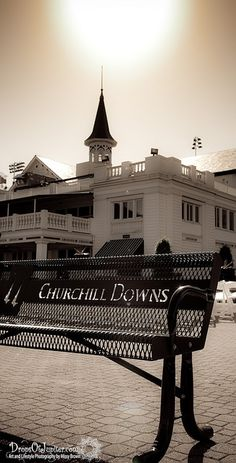 The sun rising on the Twin Spires of Churchill Downs - Louisville, KY - Kentucky Derby
