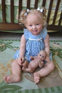 Ooak-Reborn-newborn-real-life-baby-girl-Toddler-Shelly-3year-Baby-art-doll