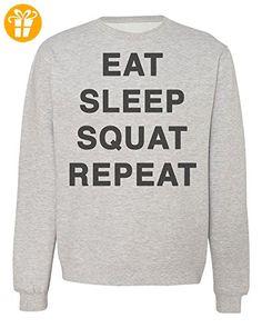 Eat Sleep Squat Repeat Men's Women's Unisex Sweatshirt XX-Large (*Partner-Link)
