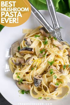 Pasta Side Dishes, Pasta Sides, Dinner Dishes, Vegetable Side Dishes, Ham And Mushroom Pasta, Mushroom Dish, Mushroom Recipes, Mushroom Sauce, Vegetarian Recipes