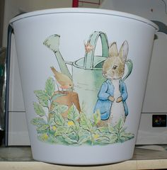 Peter Rabbit Waste Basket Trash Can for Nursery on Etsy, $19.99