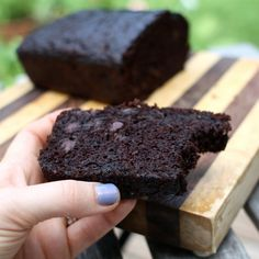 Double Chocolate Zucchini Bread. made 3 of these the other day with garden zucchini. was FANTASTIC!