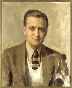 'F. Scott Fitzgerald,' 1935; David Silvette, 1909-1992; oil on canvas; National Portrait Gallery, Smithsonian Institution, Washington DC, USA. It was F. Scott Fitzgerald who named the self-indulgent 1920s the Jazz Age, and his best-selling novel 'This Side of Paradise' became one of the decade's first literary landmarks. But his most enduring achievement was 'The Great Gatsby' (1925), which, in meticulously crafted prose, wove a modern morality tale set against a backdrop of luxury.