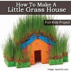 How To Make A Little Grass House  We've done this - so just in case I forget how, I pinned it!