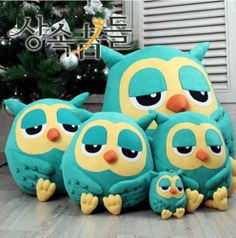 Owl doll pillow Cushion stuffed cute animal gift home decor plush toy soft movie