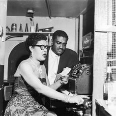Photographic Print: Legendary Jazz Vocalist Billie Holiday and Her Husband Louis Mckay, 1956 by Isaac Sutton : Billie Holiday, Blues Rock, Louis Mckay, Lady Sings The Blues, Pop Musicians, Bless The Child, Vintage Black Glamour, Cool Jazz, Jazz Blues