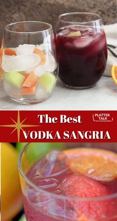 Sangria Vodka Recipe, Spanish Sangria Recipe, Red Sangria Recipes, Vodka Recipes, Easy Drink Recipes, Alcohol Drink Recipes, Simple Sangria Recipe, Diet Recipes, Recipes