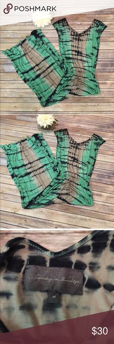 """Anthropologie Sunday in Brooklyn TieDye Maxi Dress Anthropologie Sunday in Brooklyn Tie Dye Maxi Dress.  In excellent condition.  Bust 37"""" Length 62"""" Anthropologie Dresses Maxi"""
