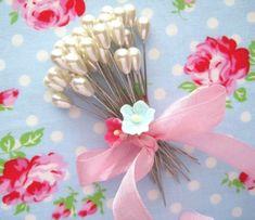 Teardrop Pearl Corsage Pins-pins, corsage, stick pins, white, pearl, craft pins, teardrop, pearl, pink, blue, memory board, supplies, crafts...