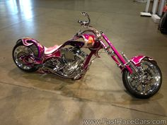 Custom Choppers Motorcycles | Motorcycles > Street Bikes > Picture of Pink and Purple Custom Chopper