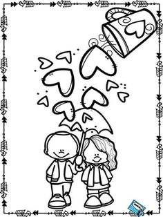Resultado de imagen para the best coloring worksheet for valentine Valentine Coloring Pages, School Coloring Pages, Colouring Pages, Adult Coloring Pages, Coloring Sheets, Coloring Books, Valentine Theme, Valentine Crafts, Be My Valentine