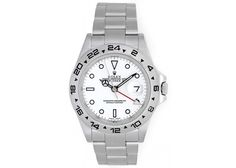 Rolex Explorer II Men's Stainless Steel Watch 16570  White Dial with Date
