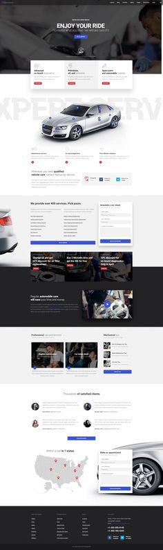 Native – Car Service Landing Page