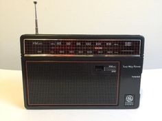 Vtg GE General Electric 7-26600 Portable AM/FM Personal Radio Two Way Power Jack #GE
