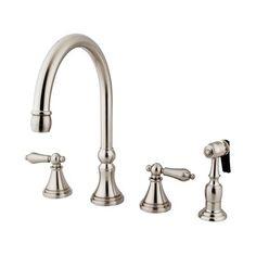 Elements of Design ES279 Deck Two Handle Kitchen Faucet