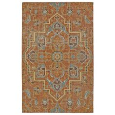 Hand-Knotted Vintage Paprika Heriz Rug (9'0 x 12'0) - 17945336 - Overstock Shopping - Great Deals on 7x9 - 10x14 Rugs