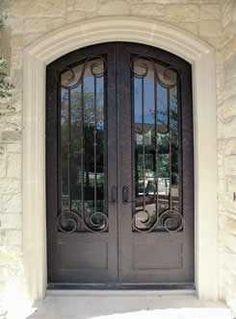 very simple wrought iron door