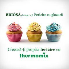 Thermomix - fericirea noastră! 😍🤩 #thermomix #tm5 #thermomixromania #food #love #happiness #cupcakes #fericire #briose #citat #quote #quoteoftheday Mini Cupcakes, Happiness, Quote, Happy, Desserts, Food, Thermomix, Quotation, Meal