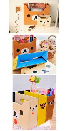 Coréia papelaria ter relaxado caixa de desktop organizador de armazenamento de papel diy caixa de lápis de papelaria organizador de escritorio em Porta papel de carta de Escritório & material escolar no AliExpress.com | Alibaba Group