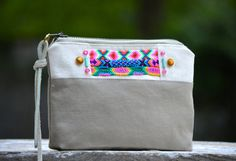 Friendship Bag Purse Clutch Leather Hand Painted by NINandBUMM, $39.00