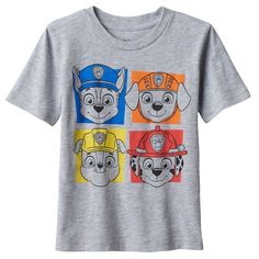 His favorite crew is here to save the day with this boys' Jumping Beans Paw Patrol graphic tee. Rubble Paw Patrol, Baby Boy Shirts, Jumping Beans, Girls Tees, Toddler Boys, Graphic Tees, Mens Tops, Shopping, Clothes