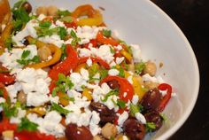 Weight Watchers Recipes With Points Plus - Low Calorie Recipes Online - LaaLoosh Mediterranean olives and peppers salad
