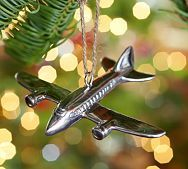 Silver Plane Ornament: to commemorate MaKayla's 1st airplane ride.